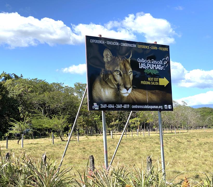 Ingang Centro Las Puma in Cañas