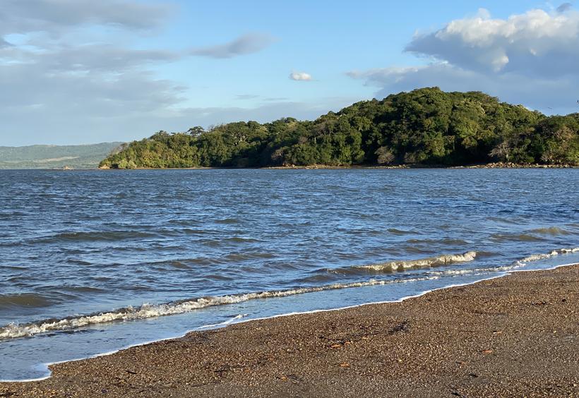Playa Coyoteros zee strand en wind