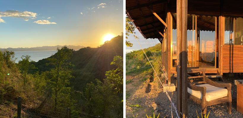 zonsondergang aan casa Mariquita in El Jobo