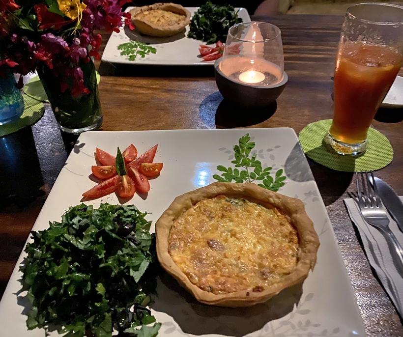 organische maaltijd in La Tierra Madre