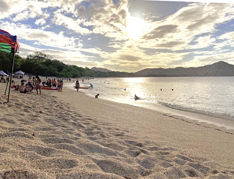 schelpjesstrand aan Gold Coast Guanacaste
