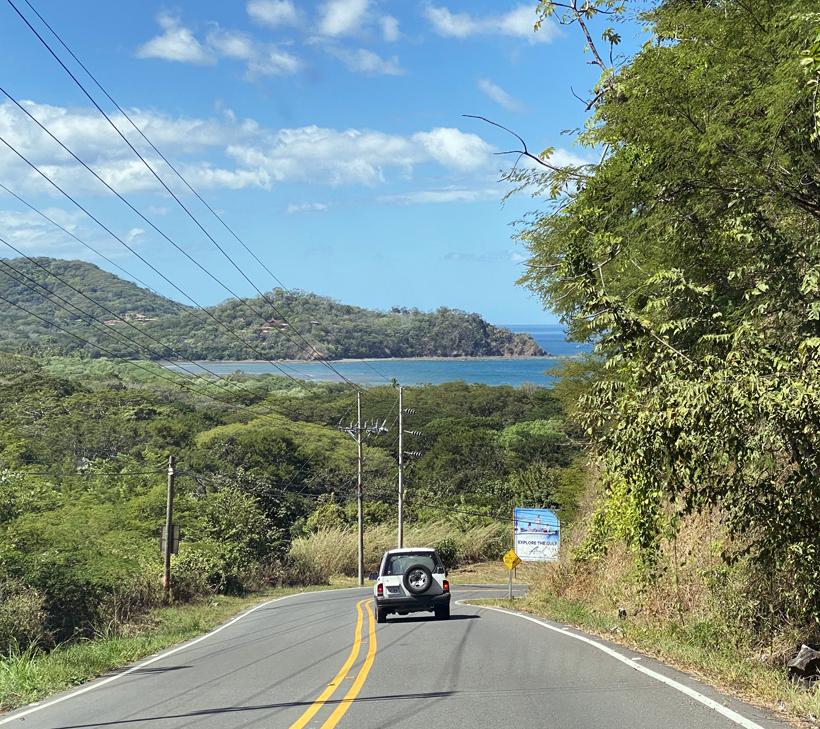 naar Playa Panama in Golf van Papagayo