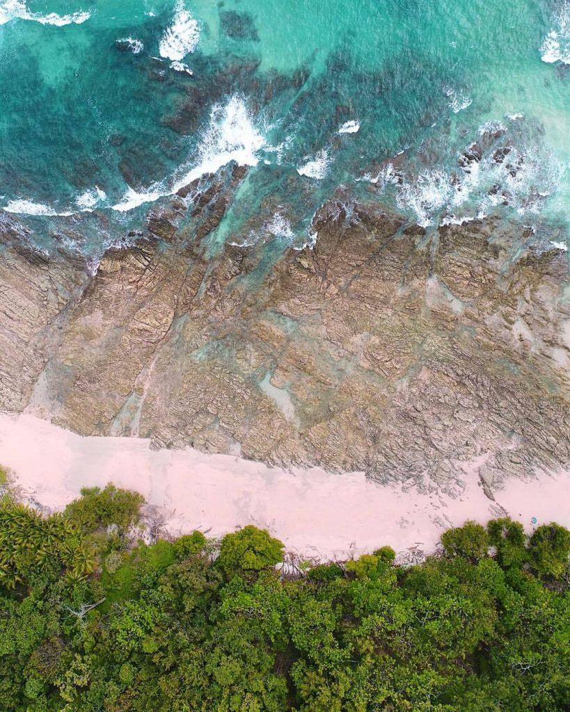 strand Playa Rosada luchtfoto