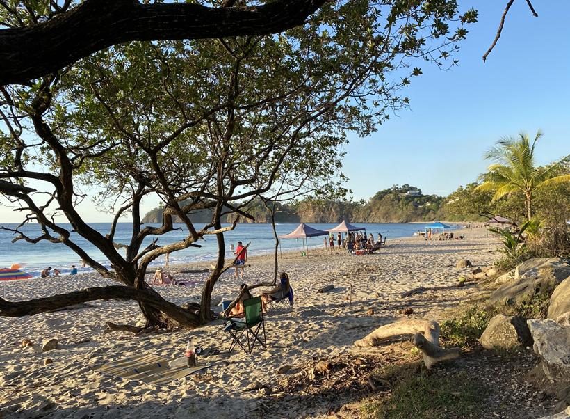 tentjes op playa flamingo
