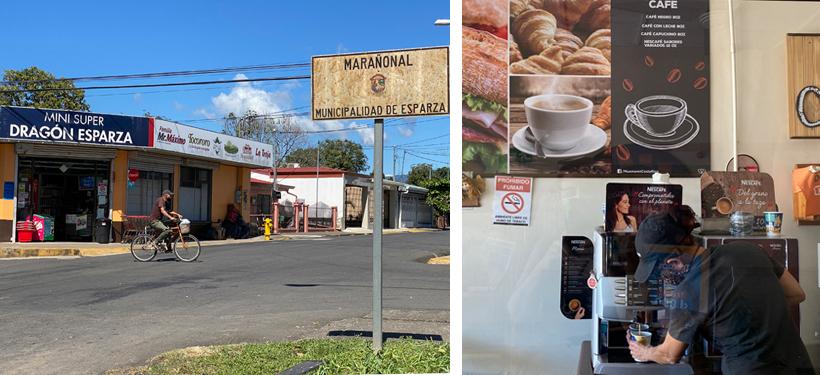 van san jose naar la cruz koffiestop