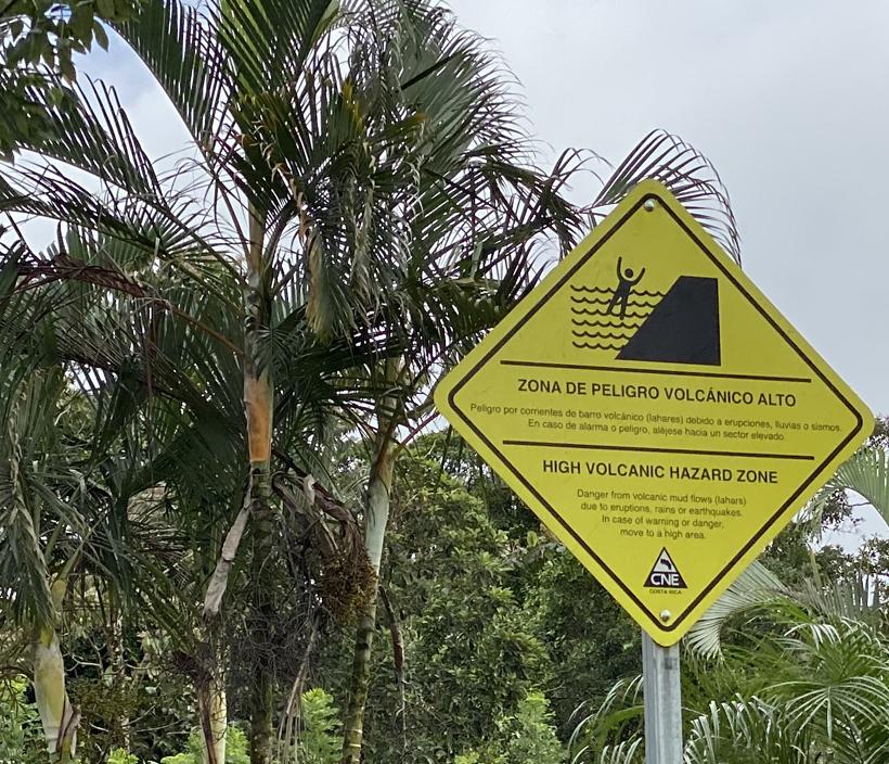 vulkanische zone Dos Rios