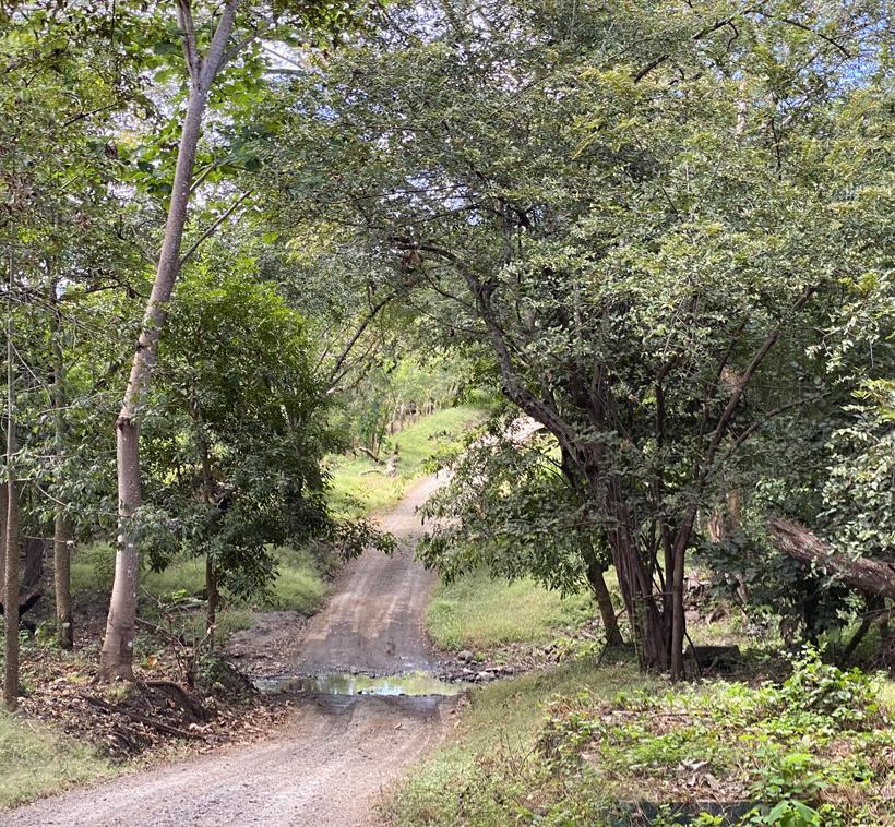 Dirt road naar Playa Iguanita