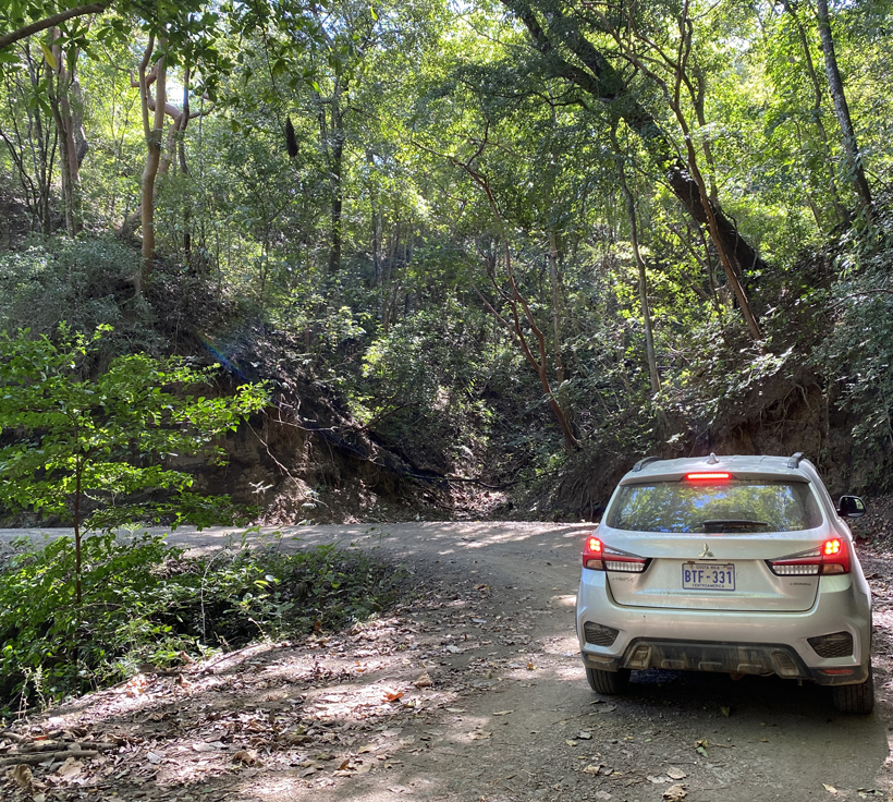 weg naar Diria Nationaal park