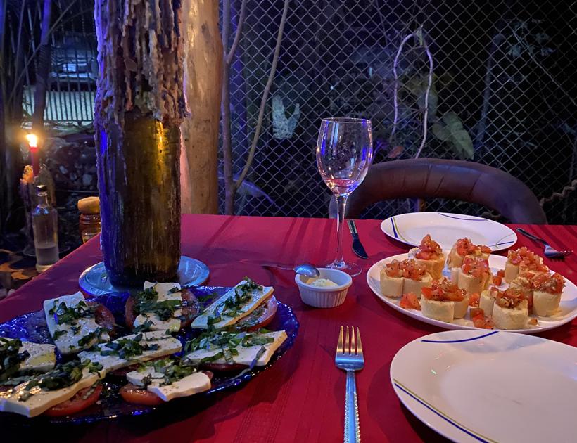 eten bij Terra Nostra in Nicoya