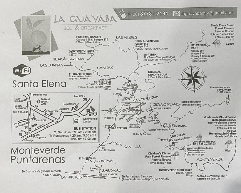 La Guayaba tot attracties in Monteverde