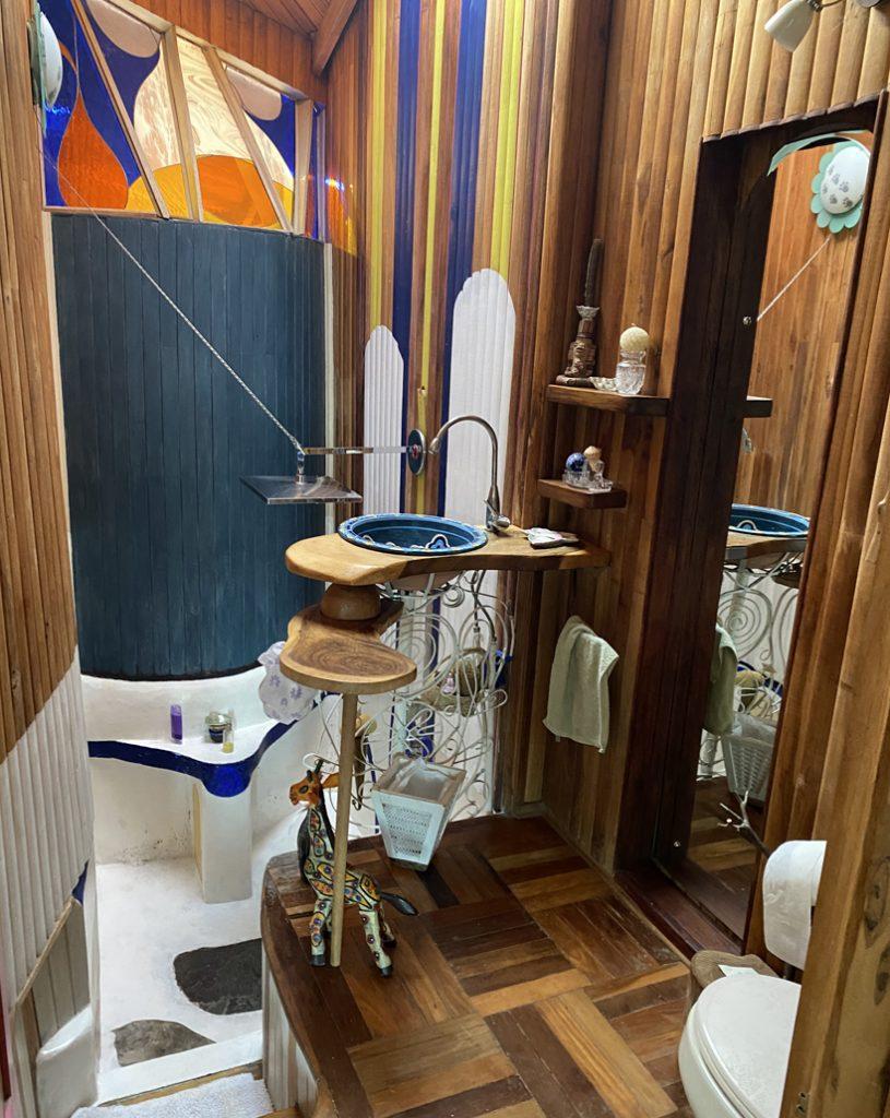 badkamer in Finca Pipilacha