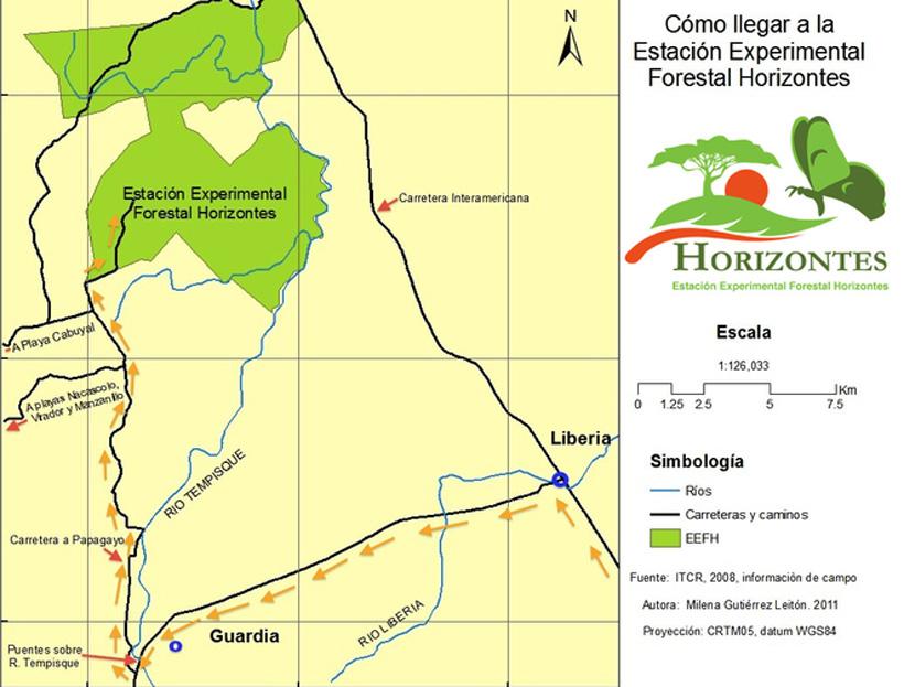 weg naar Horizontes natuurreservaat