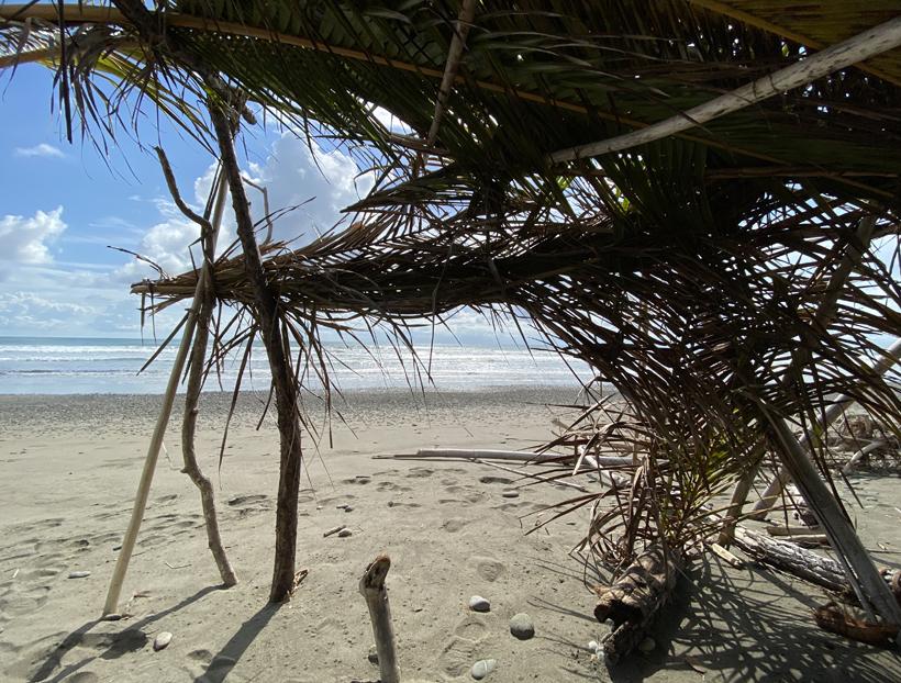hut op strand bij Hacienda Baru