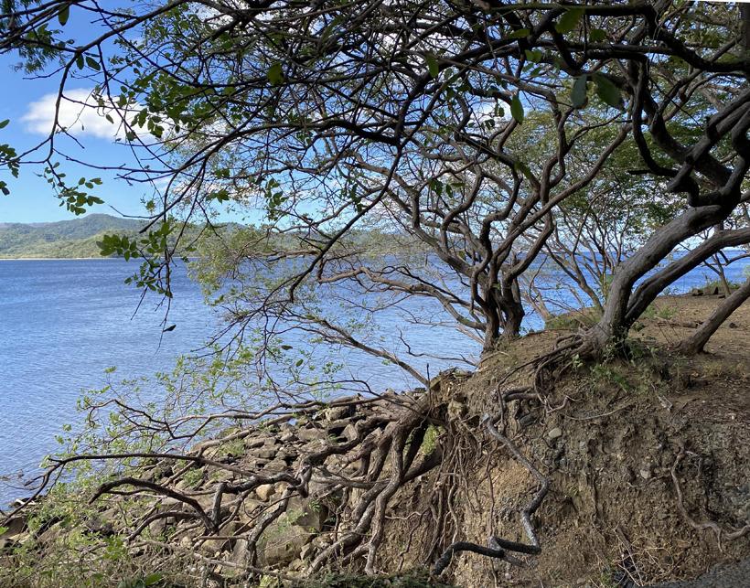 zicht op baai van cuanjiniquil