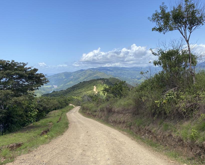 bergweg naar boruca