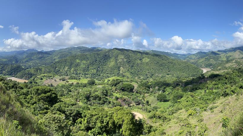heuvels boven terraba rivier