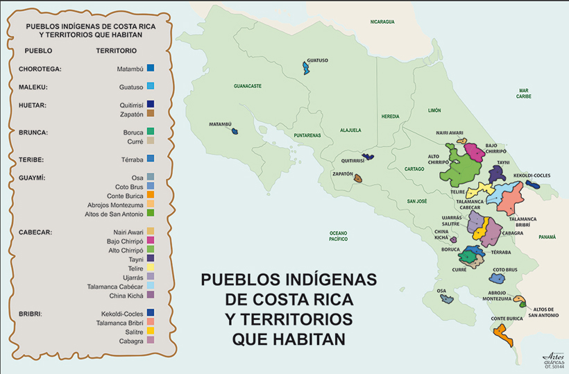 kaart inheemse stammen