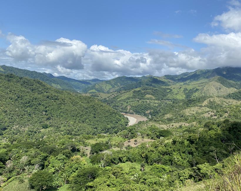 uitzicht onderweg naar boruca