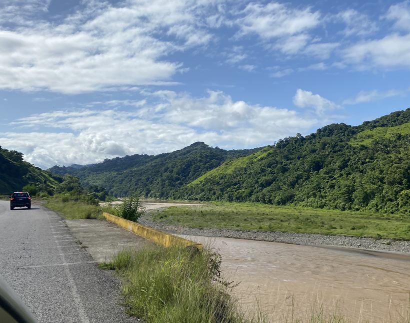weg langs rio terraba